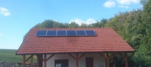 rozmístění panelů na střeše