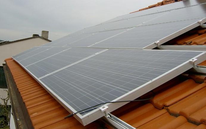 solární panel, polykristalická struktura